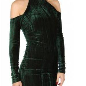 Dresses & Skirts - Cold Shoulder velvet halter dress.