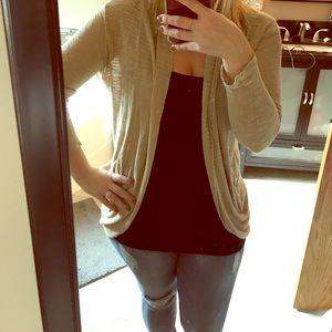 Tan/gold sweater