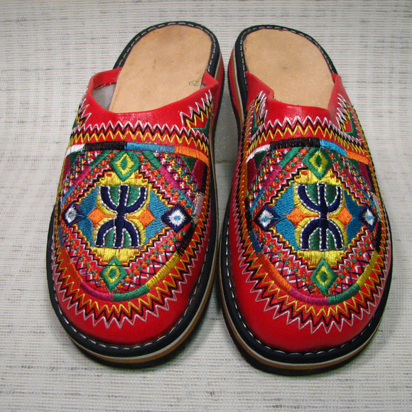 bd7ddedf32447 Moroccan Genuine Leather Shoe Slipper Babouche