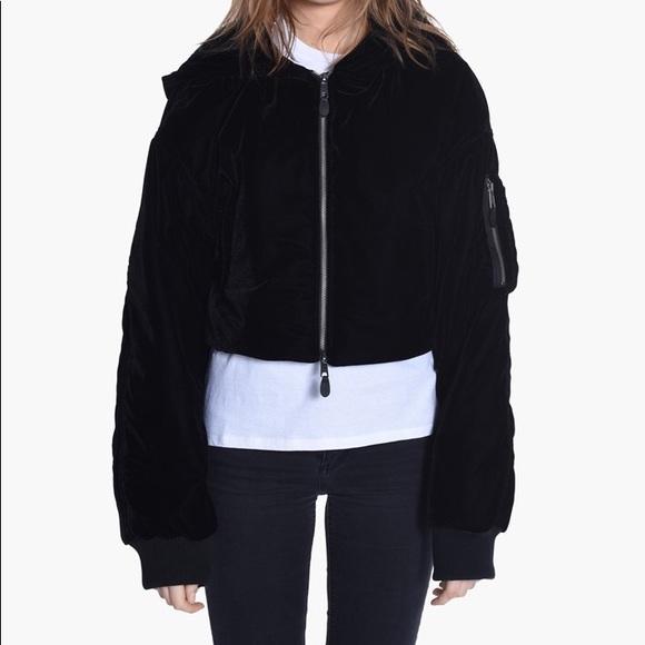 31930679ae75 Puma fenty rihanna velour cropped bomber jacket