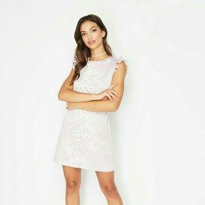 Miss Selfridge Lilac Flower Print Dress NEW