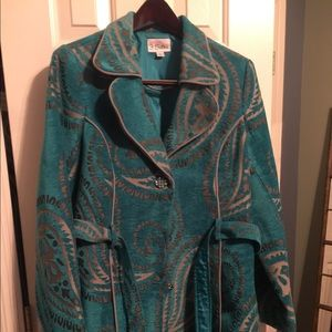 Belted Paisley Jacket