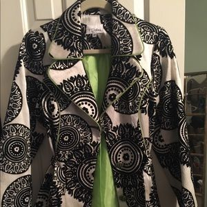 Black and White belted jacket