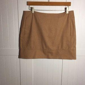 Camel wool rayon skirt. 8