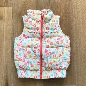 Genuine Kids Oshkosh Floral Puffer Vest.