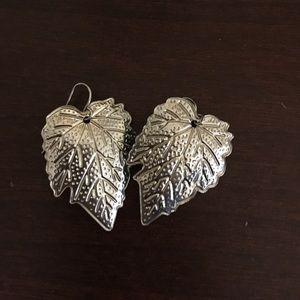 Jewelry - Fall leaf silver earrings