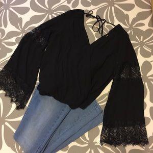 Thalia black blouse