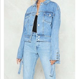 f0fd884c629e Nasty Gal Jackets & Coats - Momokrom Nasty Gal Cut and Paste Denim Jacket