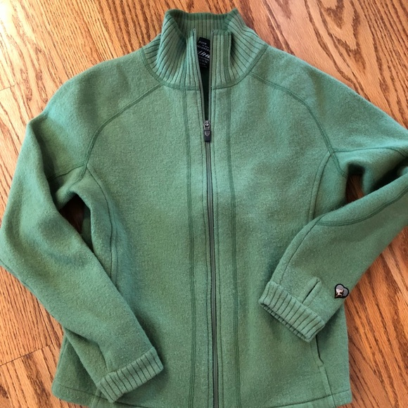 Women's Kuhl full zip wool sweater jacket