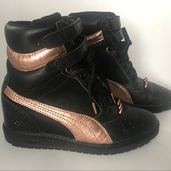 Puma Sky Wedge Rose Gold