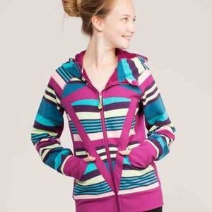 Ivivva Remix stripped Hoodie Jacket