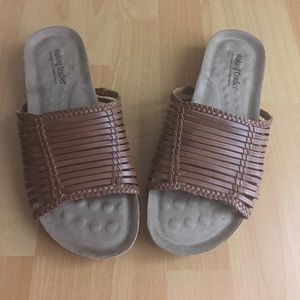 Leather Sandals from Brazil  11W wide width