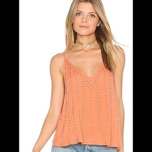 Free People bb embellished coral cami