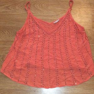 Free People Tops - Free People bb embellished coral cami