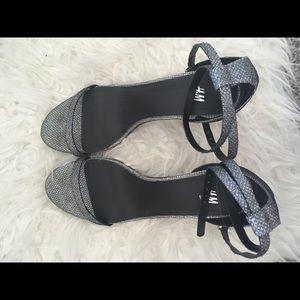 HM silver strap sandals, size 7