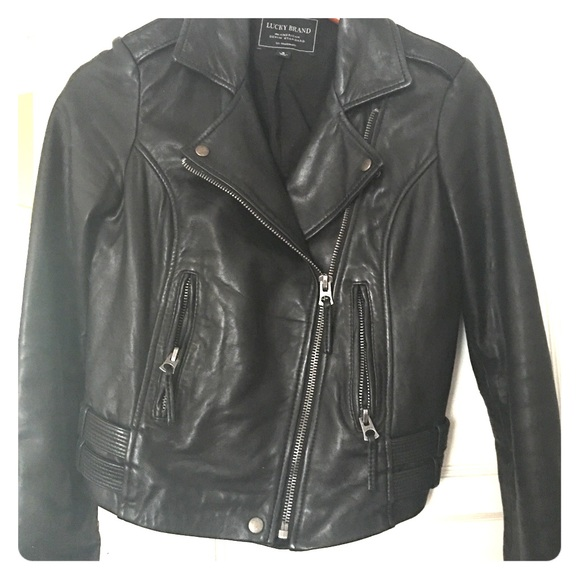 Lucky Brand Jackets & Blazers - Lucky Brand Leather Moto