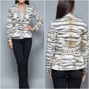 Just Cavalli Roberto Blazer Jacket Animal Print