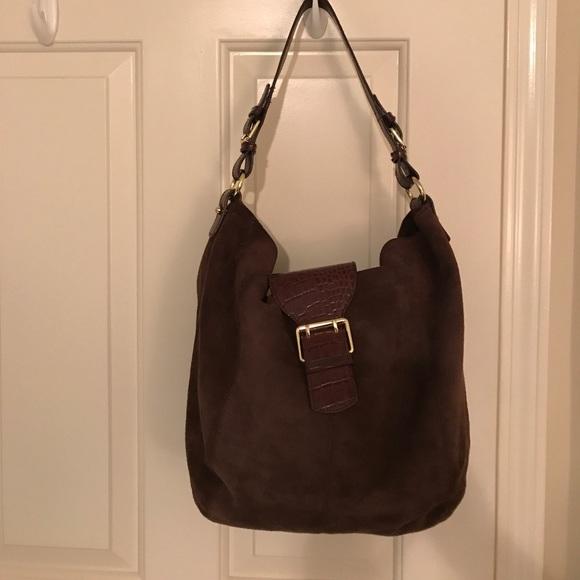 53eb488ae60 Lauren Ralph Lauren Bags   Beautiful Brown Suede Ralph Lauren Hobo ...