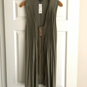 bebe Dress w/ chain detail.