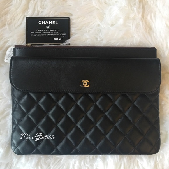 71a38ef4235e CHANEL Bags | Black Gold Envelope Ocase Clutch Bag | Poshmark