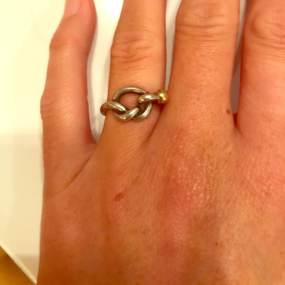 aadab1f0829c8 Authentic Tiffany & co love knot ring size 5