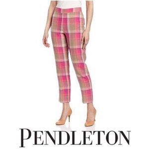 Pendleton Palisades Crop Wild Rose plaid Pants