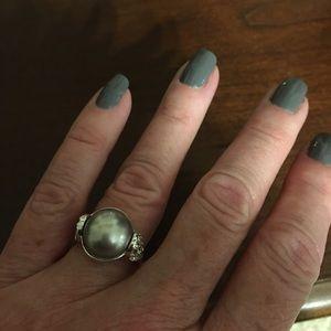Jewelry - Light copper colored stone silver ring
