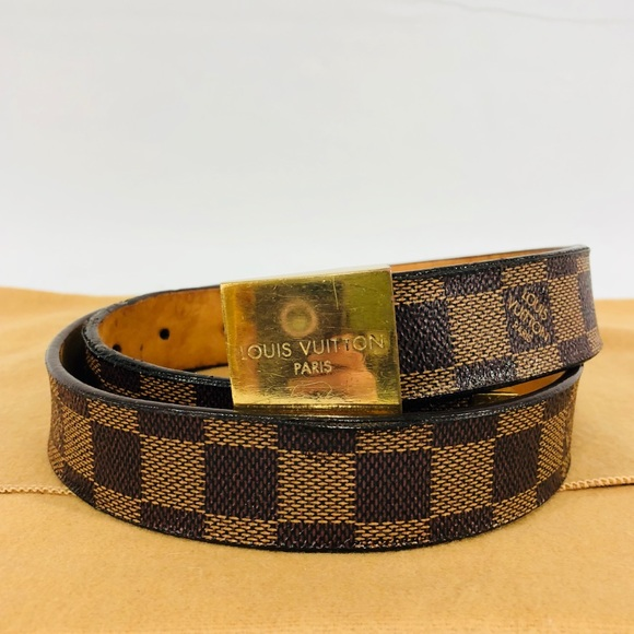 Louis Vuitton Accessories   Authentic Lv Damier Ebene Ceinture Carre ... 2ab362cda0b