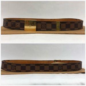 Louis Vuitton Accessories - Authentic LV Damier Ebene CEINTURE CARRE Belt c350d3e34f9