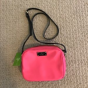 Hot pink late spade purse