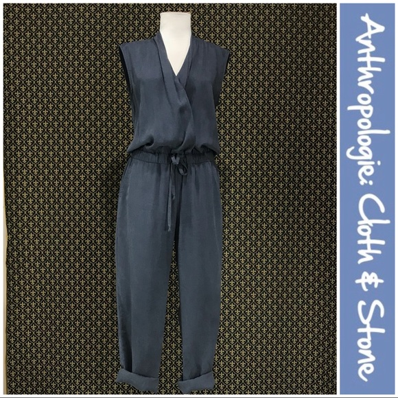 """33169f9f020 Anthropologie Pants - Anthro """"Mignon Crossfront Jumpsuit"""" by Cloth Stone"""