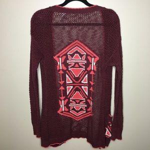 BKE knit Aztec cardigan with pockets