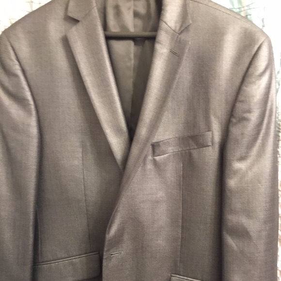 unknown Other - Mens shiny grey suit