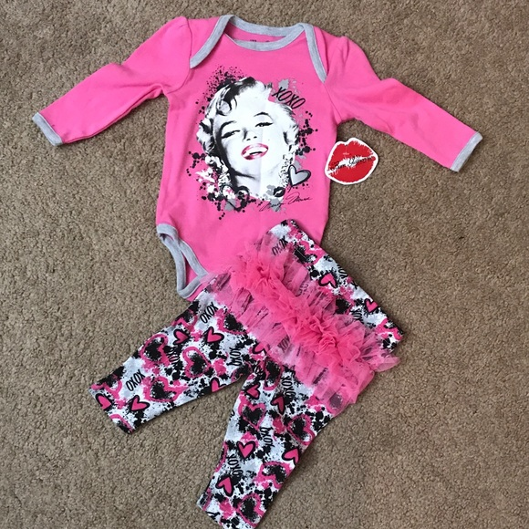 fdedf7936 born glamorous Matching Sets | 36 Months Marilyn Monroe Onesie And ...