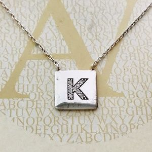 Argento Vivo Sterling Silver Letter 'K' Necklace