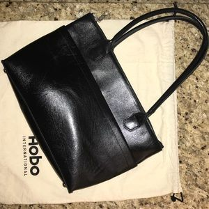 HOBO black leather handbag