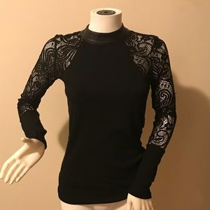Sweaters - Black lace sweater