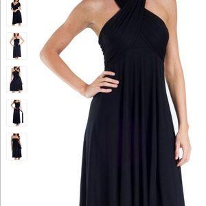 Elam Black convertible dress