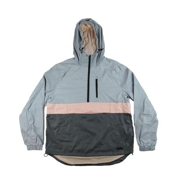 Other - Half Zip Windbreaker - Grey/Pink/Space Grey