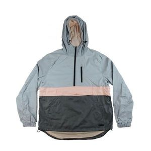 Half Zip Windbreaker - Grey/Pink/Space Grey