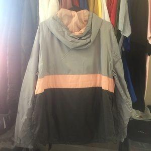 Jackets & Coats - Half Zip Windbreaker - Grey/Pink/Space Grey