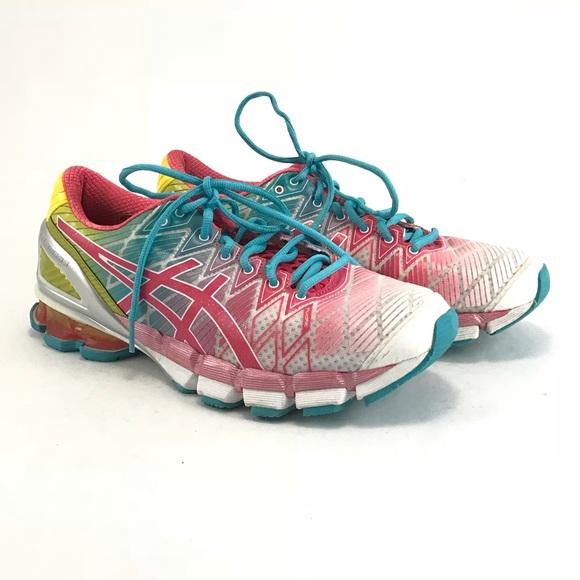 cfdc1b1cf64e ASICS gel Kensei5 pink teaberry yellow sneakers