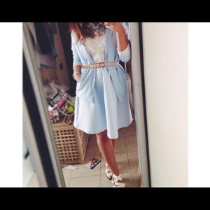 Skirt light lavender color. Top shop brand