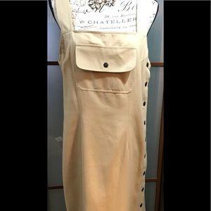 Carole Little vintage Maxi Dress Linen  Size M🌺