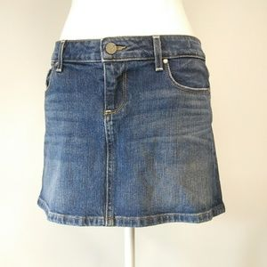 Paige Malibu Mini Blue Jeans Skirt Size 29