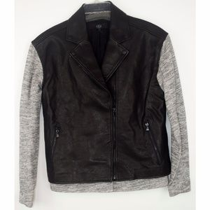 RARE NWT Combo Leather Vest and knit jacket