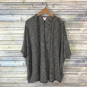 Mossimo Black Tan Dolman Oversize Cocoon Cardigan