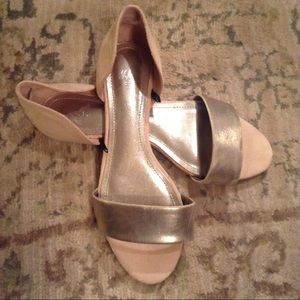 H&M Nude and Gold Sandal