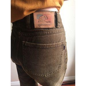Vintage✨high waist brown mom jeans