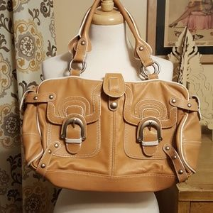 Hype leather satchel